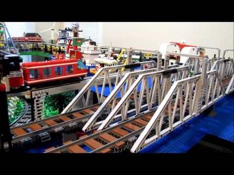Lego City Train Bridges and Elevated Track How-to - YouTube