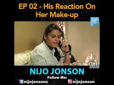 Actual reaction of boy for girl's makeup.