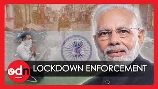 Indian Police Resort To Violence To Enforce World's Biggest Coronavirus Lockdown