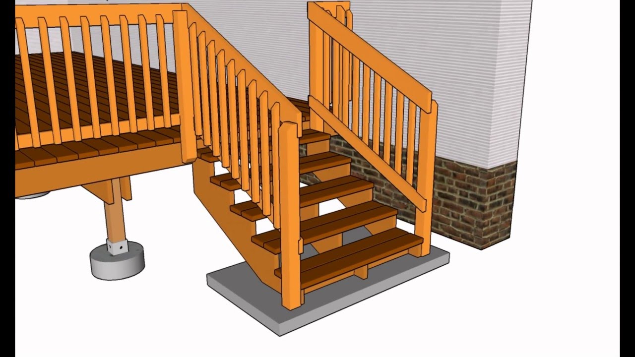 Deck Railing Designs | Wood Deck Railing Designs | Deck Railing ...
