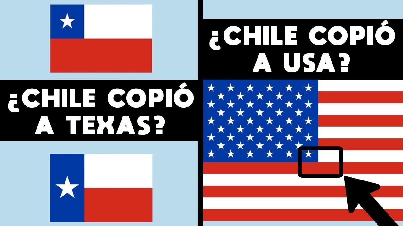 LA BANDERA DE CHILE ES UNA COPIA DE TEXAS? CHILE COPIÓ A ESTADOS UNIDOS?  CHILE EN CORAZÓN DE EEUU - YouTube