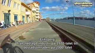 Cykling längs Norra Älvstranden i Göteborg