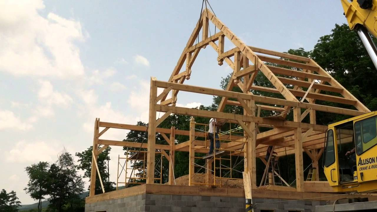 Hammer Beam Truss Raising Youtube