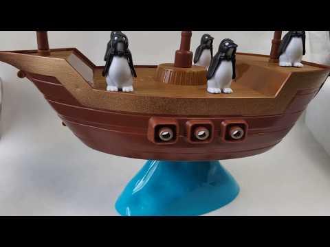 Развлекательная настольная игра Держи баланс Пингвины на корабле