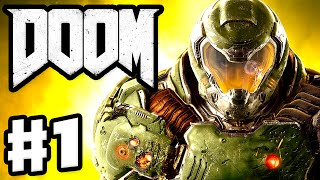 DOOM - Gameplay & Campaign Walkthrough Part 1 - Prologue, The UAC! (Doom 4 Gameplay for PC)