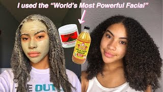 I Used The Aztec Clay Mask On My Skin And Curly Hair