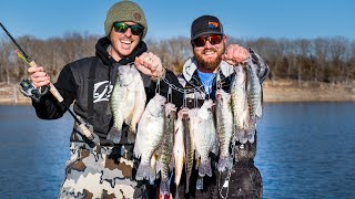 Winter Crappie Fishing | Open Water LIVESCOPE JIGGING!