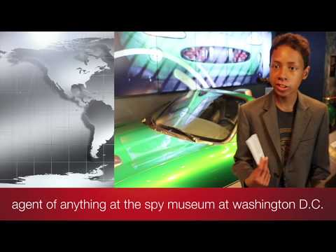 agent of anything at the spy museum at washington D.C.