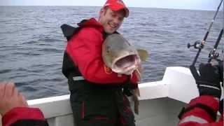 Fishing in Iceland for giant cod / Vissen op grote kabeljauw MEGAFISH 28 kilo 1.33m