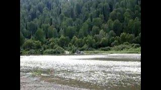 Отдых на Алтае(Остановились на ночлег на полуострове реки Лебядь, проснулись на острове.. Эвакуировали нас местные спасат..., 2011-04-21T06:06:16.000Z)