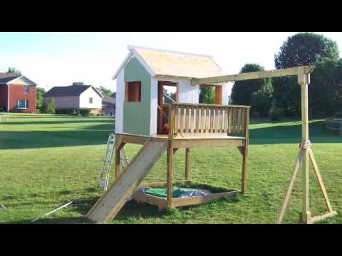 How To Build A Playhouse In Less Than 40 Seconds Youtube