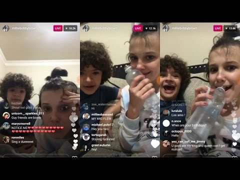 Millie Bobby Brown | Instagram Live Stream | 6 April 2017 w/ Gaten Matarazzo