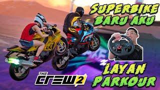 BELI SUPERBIKE UNTUK LAYAN PARKOUR! - The Crew 2 (Bahasa Malaysia)