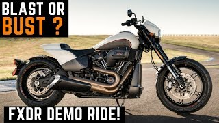 BLAST or BUST? 2019 Harley Davidson FXDR 114 Demo Ride Review Impressions First Ride Acceleration