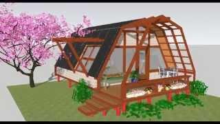 Patagonia Sustentable. Casa de 36m2 económica y sustentable.