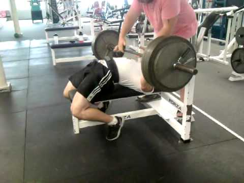 Universal Nutrition Athlete Ben Rice 385 RAW Bench assisted rep 8-3-10