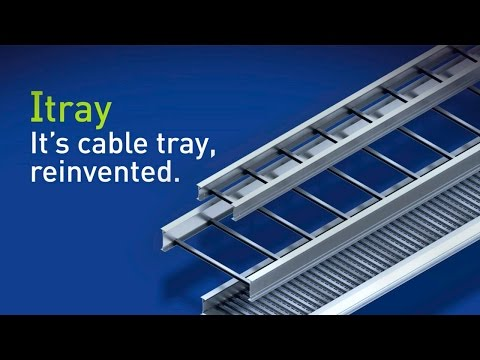 Cablofil: New Itray Ladder Cable Tray - It's cable tray, reinvented with a stronger I-Beam design.