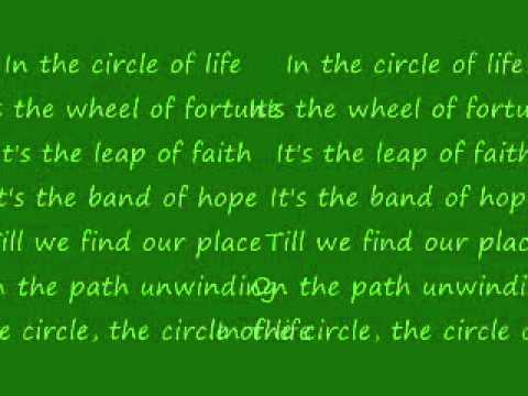 Circle of Life - Disney Channel Stars Lyrics