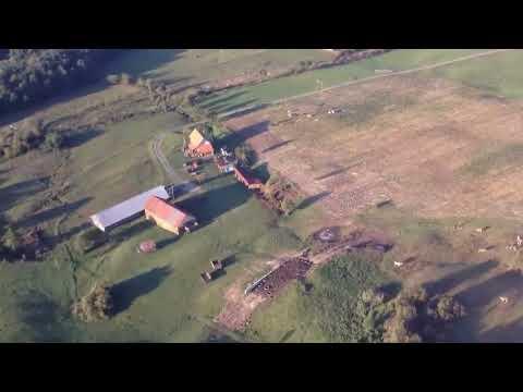 Vármező és Nyárádremete hölégballonbol.2013.09.08. (Campu Cetatii si Eremitu din balon)