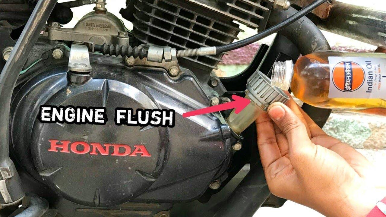 honda unicorn  engine flush youtube