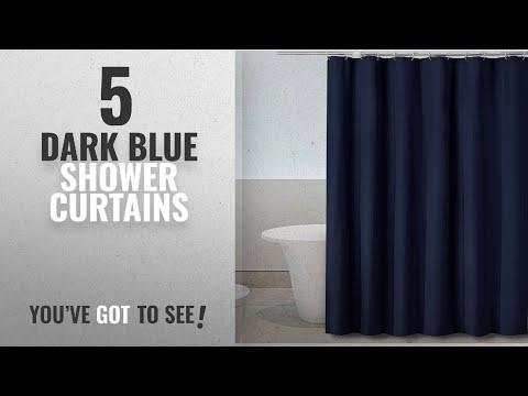 Top 10 Dark Blue Shower Curtains [2018]: Eforgift Waterproof Polyester Shower Curtain Mildew-Free