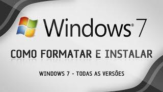 Como formatar o computador e instalar Windows 7 - Aula Completa