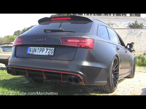 750hp Audi RS6 Akrapovic LOUD Revs and Launch Control!
