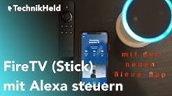 Fire TV mit Alexa steuern (Neue APP) - Anleitung Deutsch