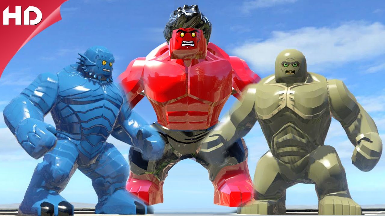 Red Hulk Vs A Bomb Vs Abomination - LEGO Marvel Super ...