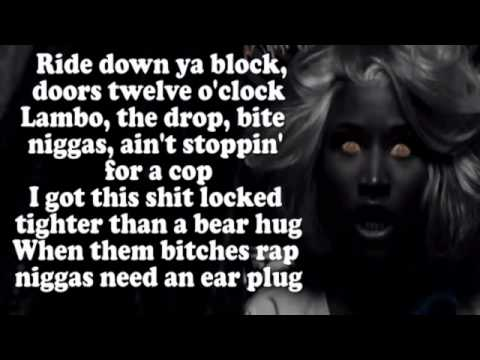 Young Money   Senile ft  Tyga, Nicki Minaj, & Lil Wayne Lyrics On Screen