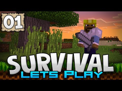 SURVIVING THE FIRST NIGHT! - Survival Let's Play Ep. 01 - Minecraft PE 1.1 (Pocket W10 Edition)