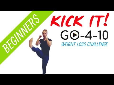 Beginner Cardio KICKBOXING HIIT Workout | GO-4-10 Weight Loss Challenge