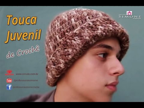 Passo a Passo Touca Juvenil Crochê - Professora Simone - YouTube 6f27368a995