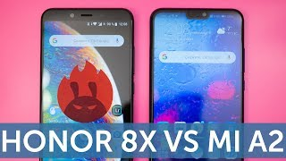 Huawei Honor 8X vs Xiaomi Mi A2 сравнение в AnTuTu Benchmark - 2 прогона теста