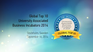Global Top 10 University Associated Business Incubators - Rankings Release Event - September 16