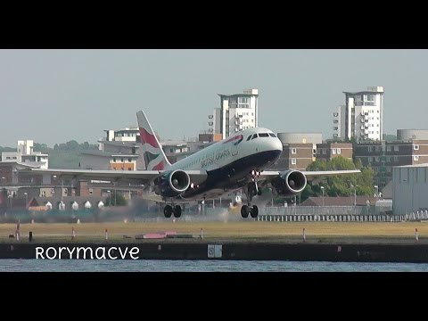 Planes at London City Airport 21/05/15