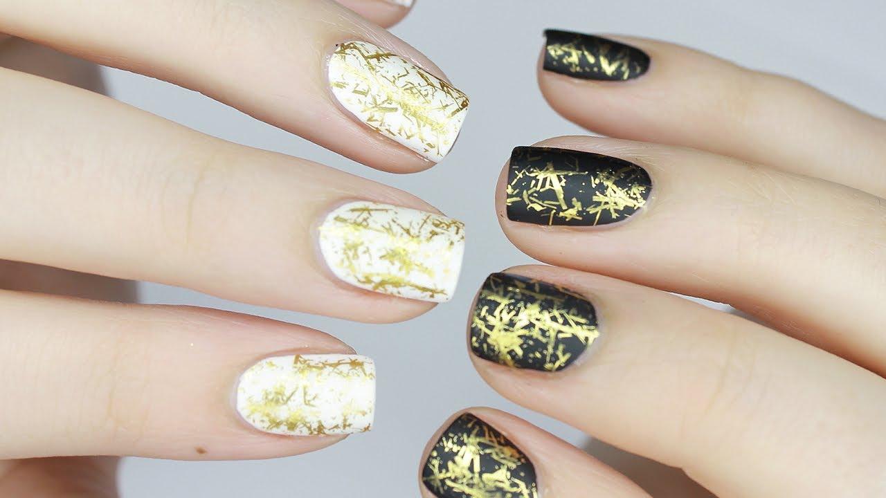 Easy Glam Scraped Metal Nail Design Metallic Chrome Foil Nail