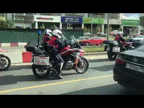 Мотопожарный отряд МЧС на BMW GS1200