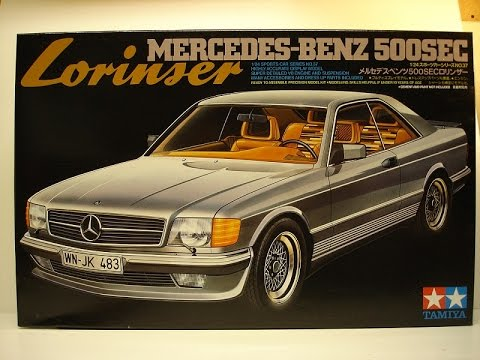tamiya 1 24 mercedes benz 500 sec lorinser youtube. Black Bedroom Furniture Sets. Home Design Ideas
