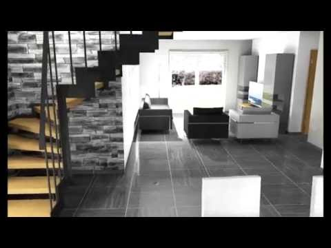 architecture d coration d 39 int rieur visite 3d salon salle manger escalier youtube. Black Bedroom Furniture Sets. Home Design Ideas