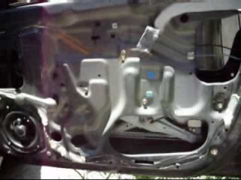 How to: Replace a window regulator, Install power locks actuator and remove the glass from a