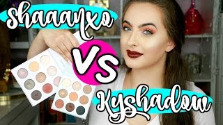 Kylie Jenner Kyshadow VS Shaaanxo BHCosmetics Palette | Demo + Swatches