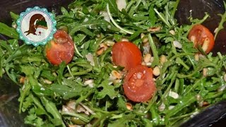 Rucola Salat mit Balsamico Dressing / Purzel-cake