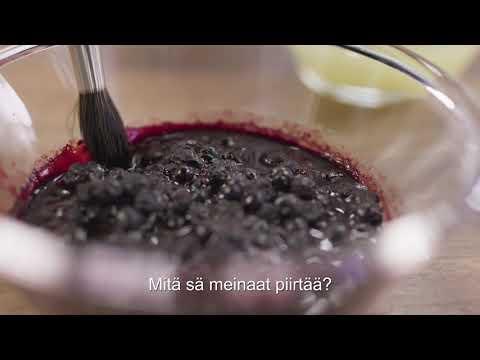Thumbnail of video called Mitä mustikan väri on?