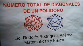 NÚMERO TOTAL DE DIAGONALES DE UN POLÍGONO