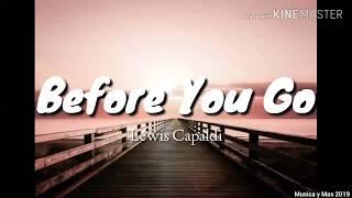 BEFORE YOU GO - LEWIS CAPALDI (LYRICS)
