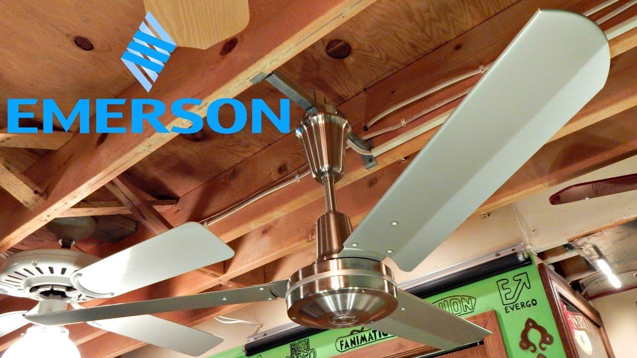 Emerson 48 heat fan ceiling fan youtube emerson 48 heat fan ceiling fan mozeypictures Images