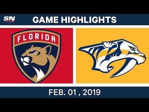 NHL Highlights | Predators vs. Panthers - Feb. 1, 2019