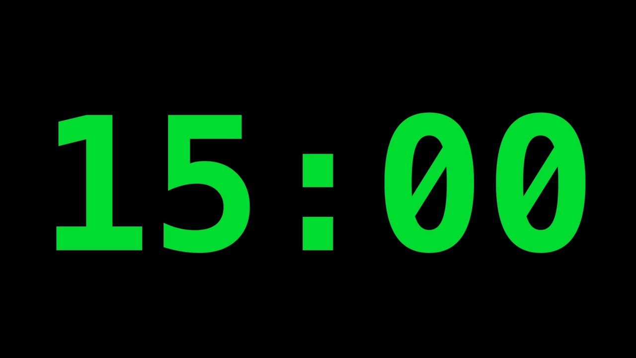15 Minute Timer   Use it to INSERT into your VIDEOS as Picture in ...
