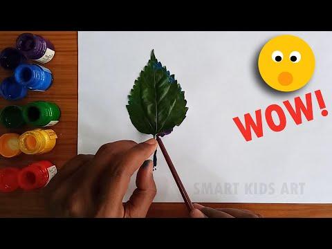 Leaf Printing For Kids   Leaf Printing Activity   Leaf Printing Ideas   How To Do Leaf Printing